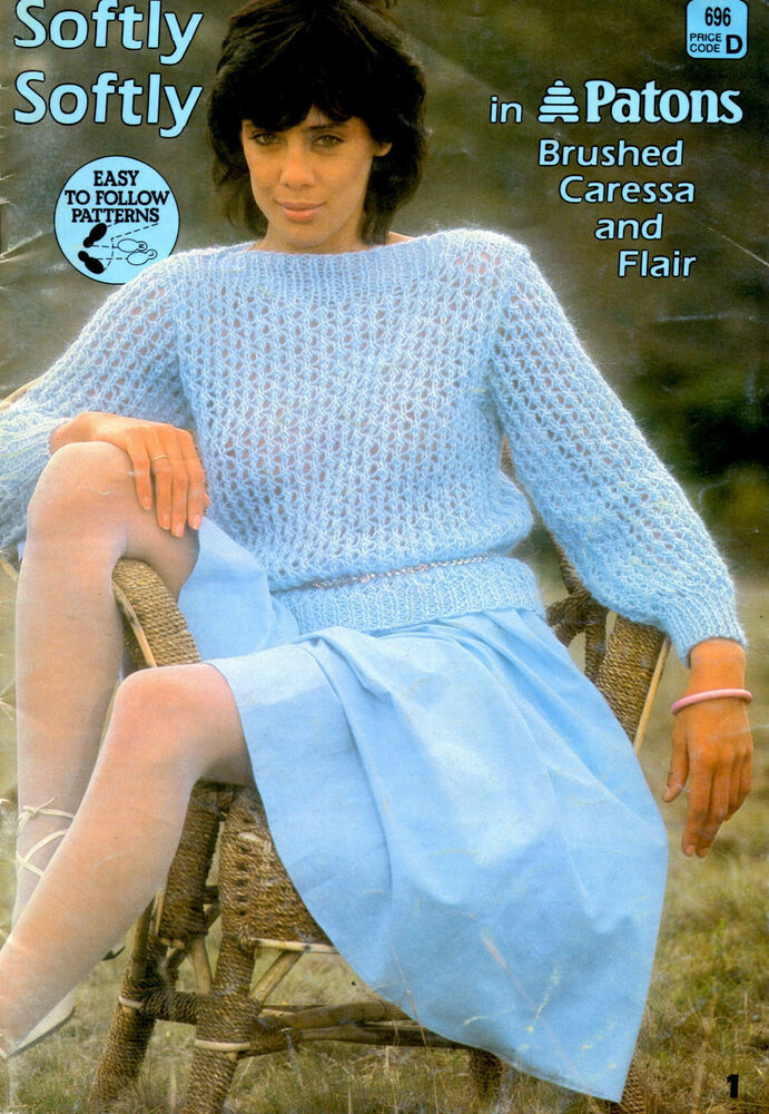 Patons 696 6 Knitting Patterns 7ply Caressa 7ply Flair Waistcoat