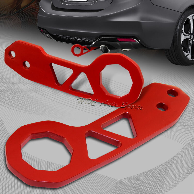 """Jdm Tow Truck >> 2"""" JDM Red Rear Anodized Billet Aluminum Racing Towing Hook Tow Kit Universal 1   eBay"""