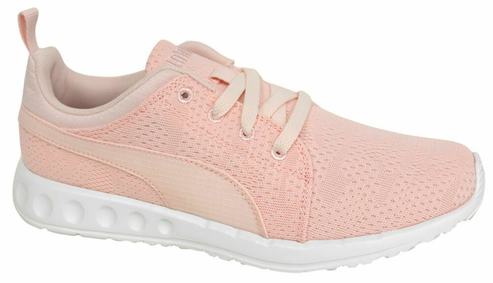 Puma Carson Runner Mesh Unisex Trainers Running Shoes Pink Lace Up ... 5afc71a80