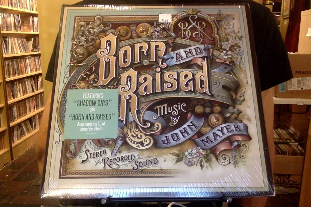 john mayer born and raised 2xlp sealed vinyl cd 886919760613 ebay. Black Bedroom Furniture Sets. Home Design Ideas
