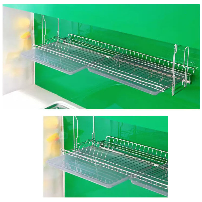 Stainless Wall Mount Dish Drying Fixing Rack Ladle Cup