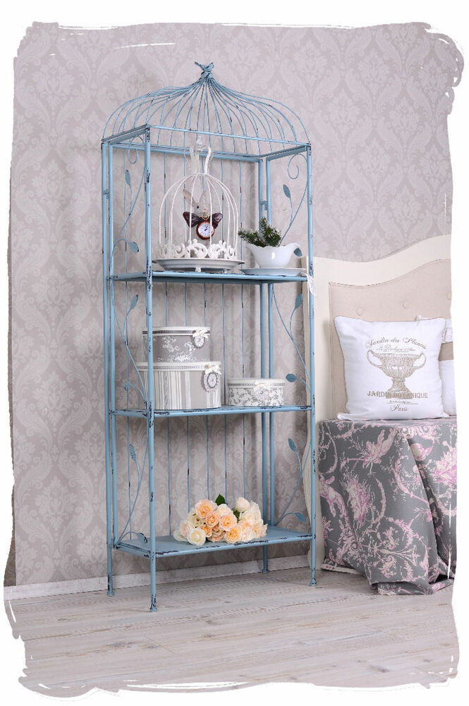 regal eisenregal shabby chic b cherregal antik metallregal. Black Bedroom Furniture Sets. Home Design Ideas