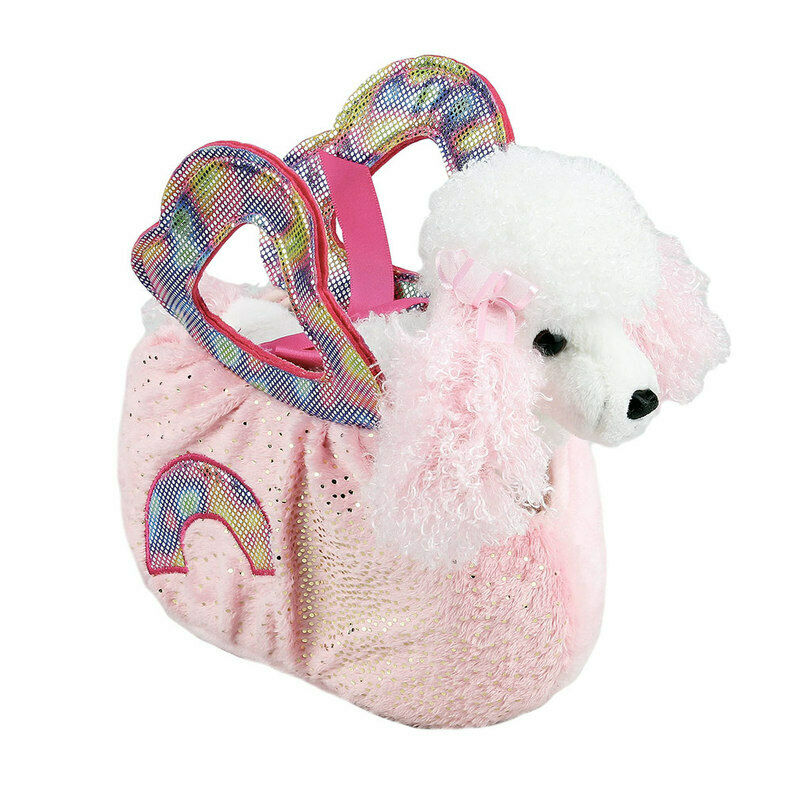 bb8c2dcb559 Details about Fancy Pals Poodle Dog in Pink Rainbow Bag 8