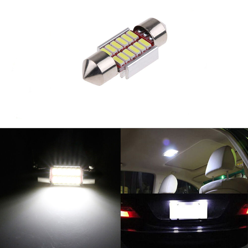 feston 31mm 12smd 4014 led lumi re ampoule voiture int rieur d me canbus lampe ebay. Black Bedroom Furniture Sets. Home Design Ideas