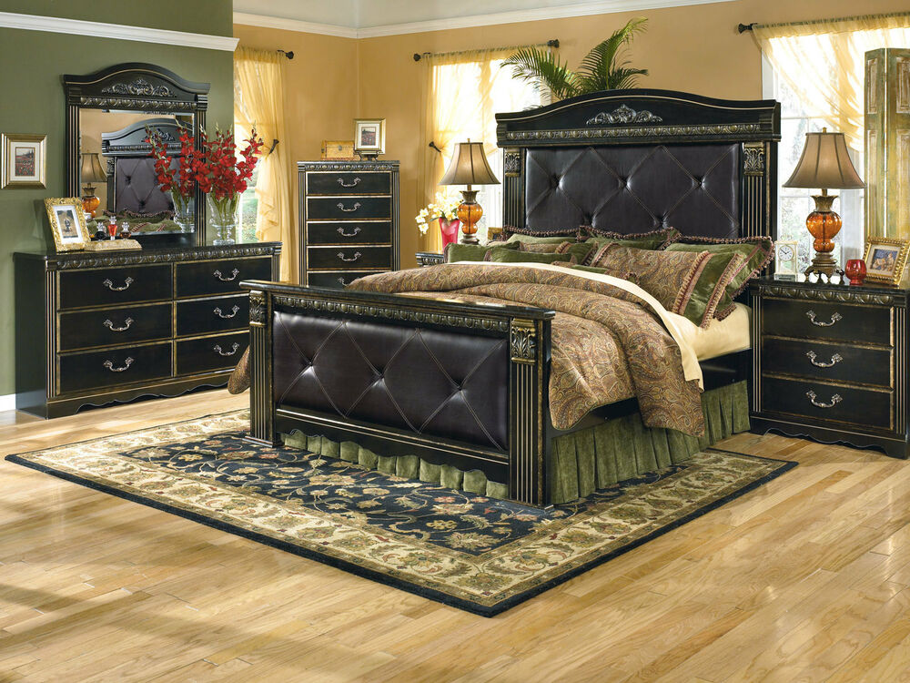 Ashley Furniture B175 Coal Creek Traditional Queen King Poster Bed Bedroom Set Ebay