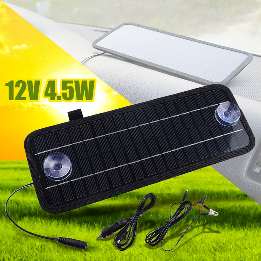 12V 4.5W Power Solar Panel Battery Charger Portable For