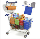 One Set of 4 Bags INSULATED Clip-to-Cart Shopping bag Trolley Carrier Tote HOT