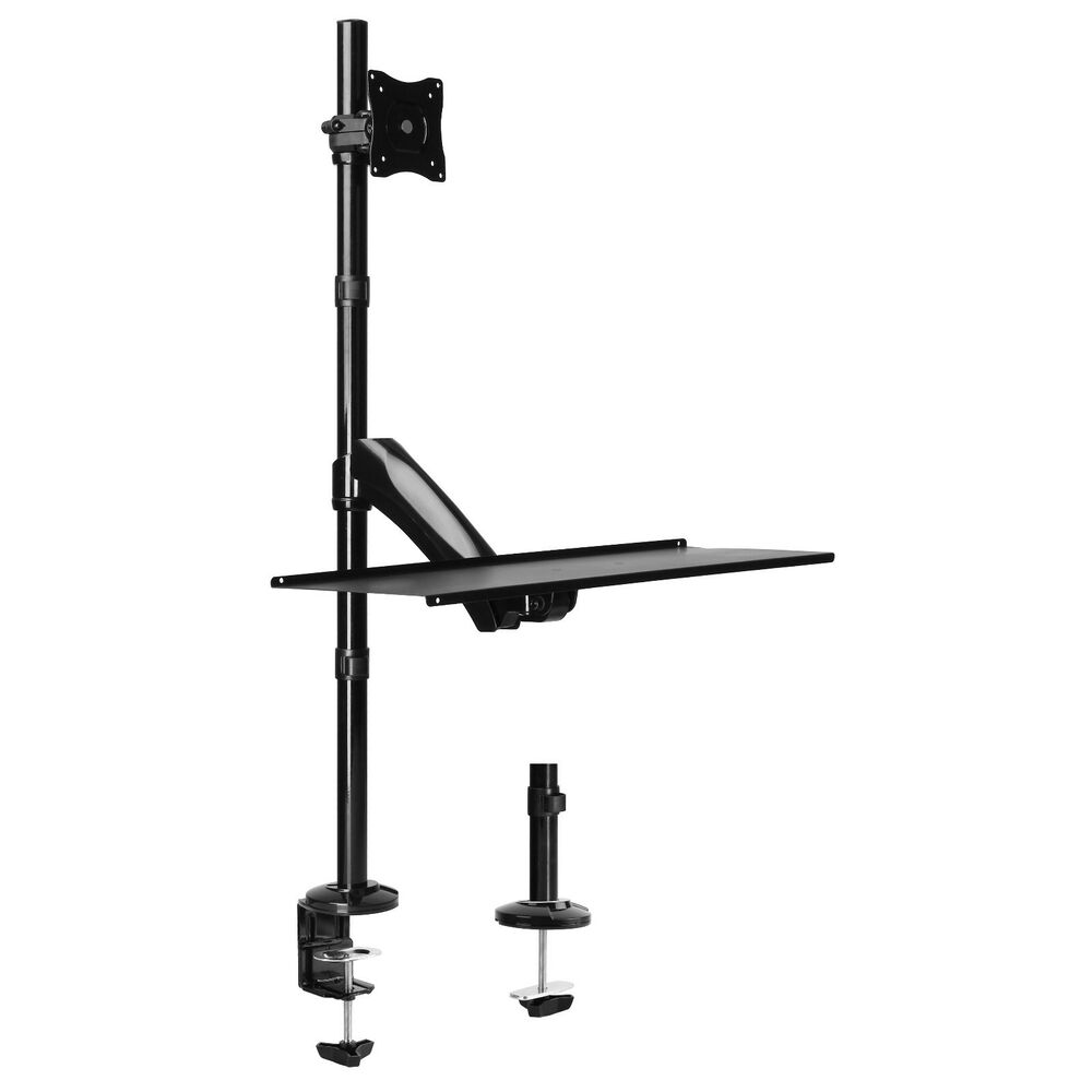 Sit Stand Ergonomic Monitor Desk Mount Adjustable Keyboard