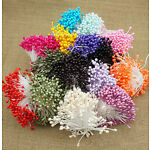 280pcs/set Mini Double Heads Eco Friendly Artificial Flower Stamen Sugar Craft