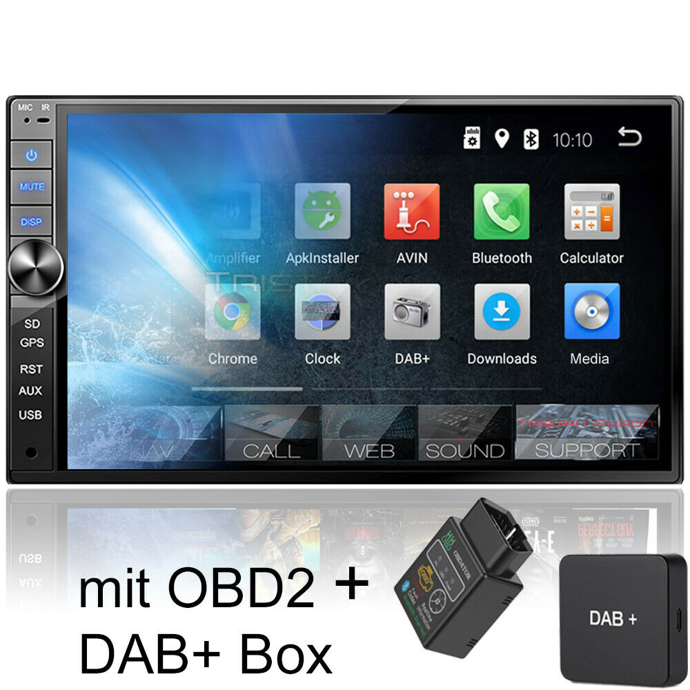autoradio mit dab navi navigation bluetooth touchscreen. Black Bedroom Furniture Sets. Home Design Ideas