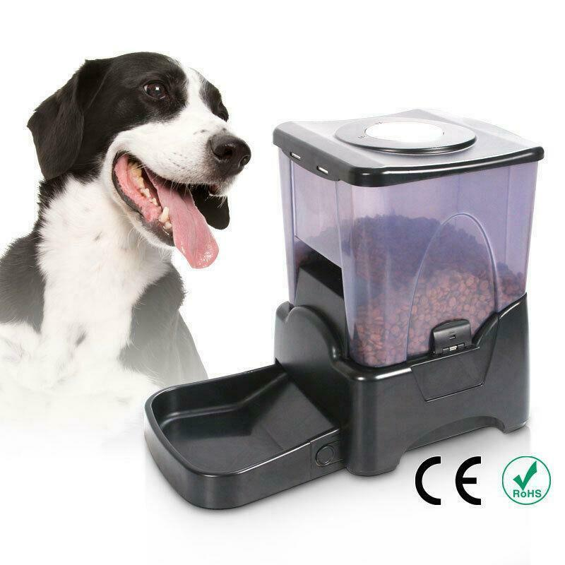 automatic pet feeder cat programmable animal food bowl 87492