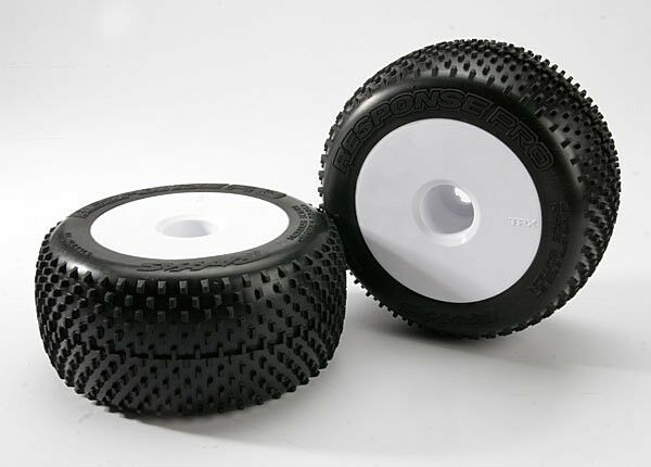 Premise 75 Vs I Maxx Pro: Traxxas 5375R Response Pro Tires & White Wheels 17mm Hex E