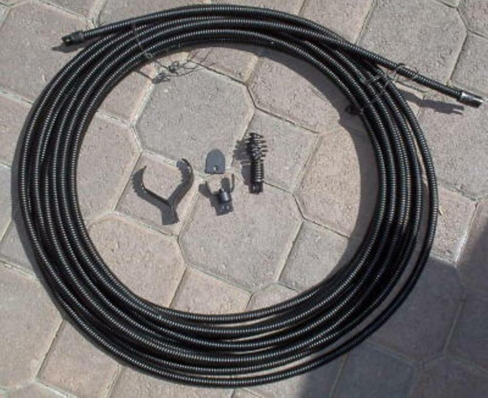 Sewer Cable Feeder : New quot drain auger cable replacement cleaner snake