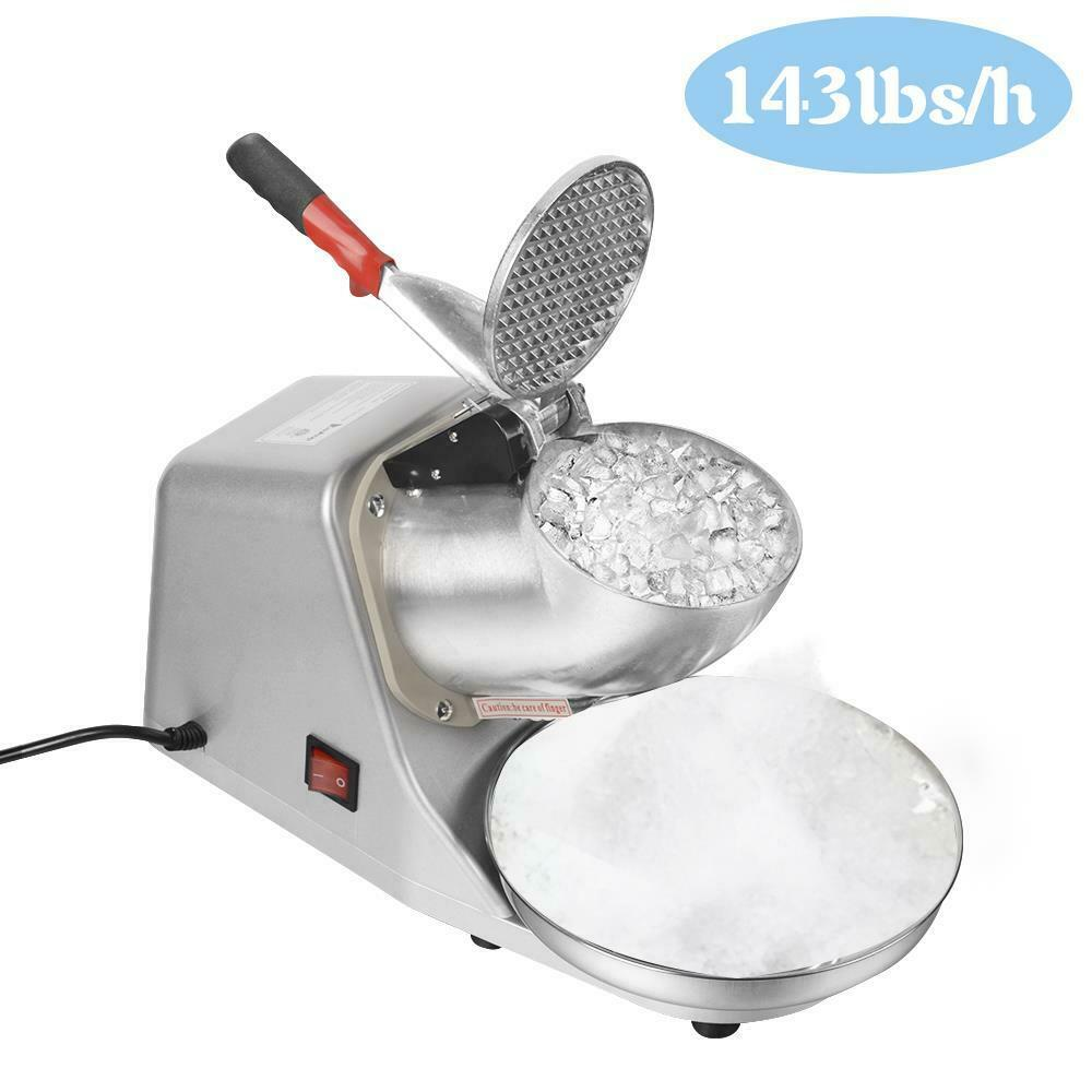 143LBS Electric Ice Crusher Shaver Machine Snow Cone Maker ...