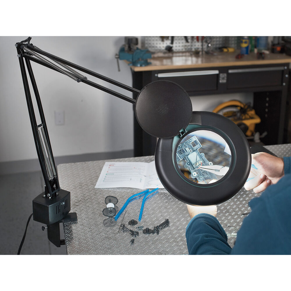 2x Magnifying Glass With Light And Stand 5in Ebay