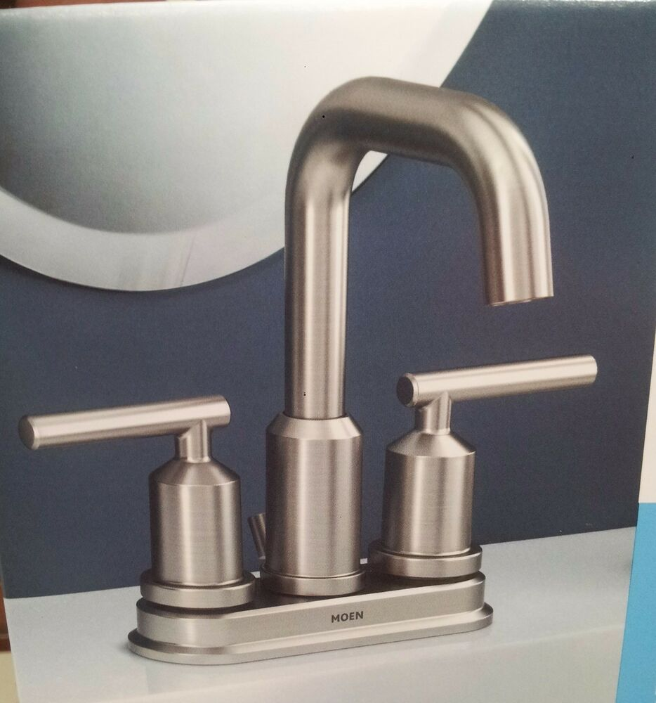 Moen Gibson Spot Resist Brushed Nickel Two Handle Bathroom Faucet Ws84228srn Ebay
