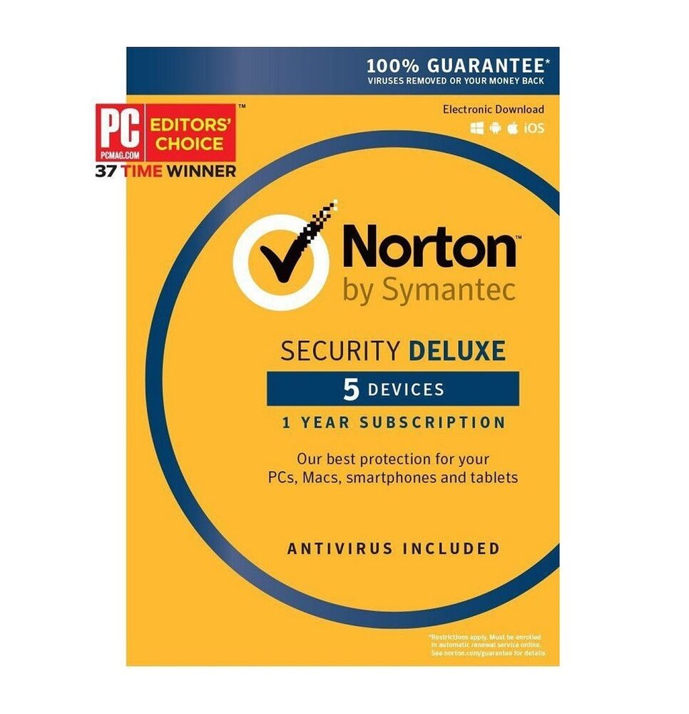 Norton Security Deluxe Download the day free trial - complete security and antivirus suite. Benefits for you: Protects your PC, Mac, Android and iOS devices with a single subscription. Alerts you about risky Android apps before you download them, with our award-winning technology. 1; Cleans up your hard drive to free up space.