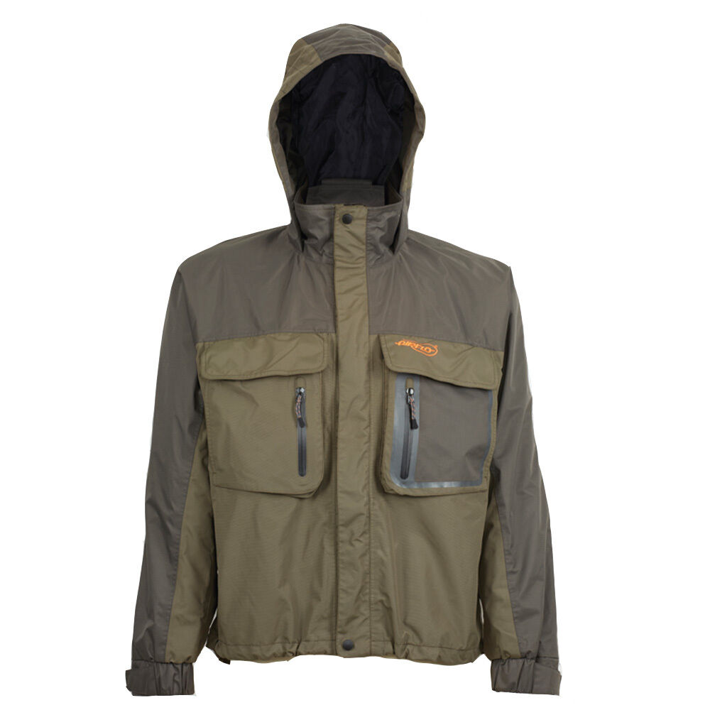 Airflo defender green twin layered wind waterproof fly for Waterproof fishing jacket