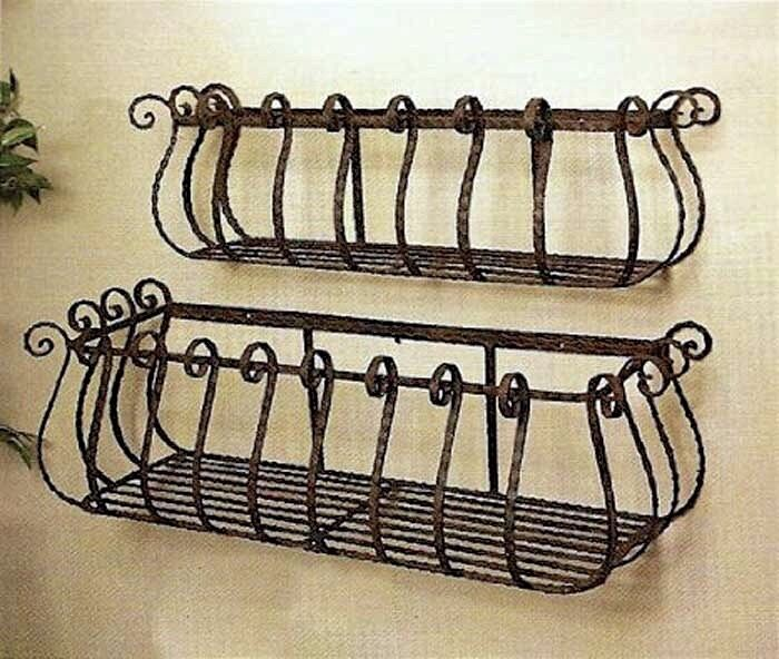 36 And 30 Wrought Iron Large Castilian Window Boxes