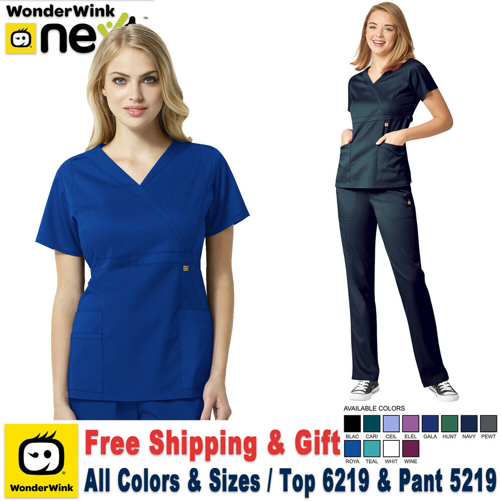 fe98a71863e Details about WonderWink Scrubs Set NEXT Women's Verity V-Neck Top & Cargo  Pant_6219/5219