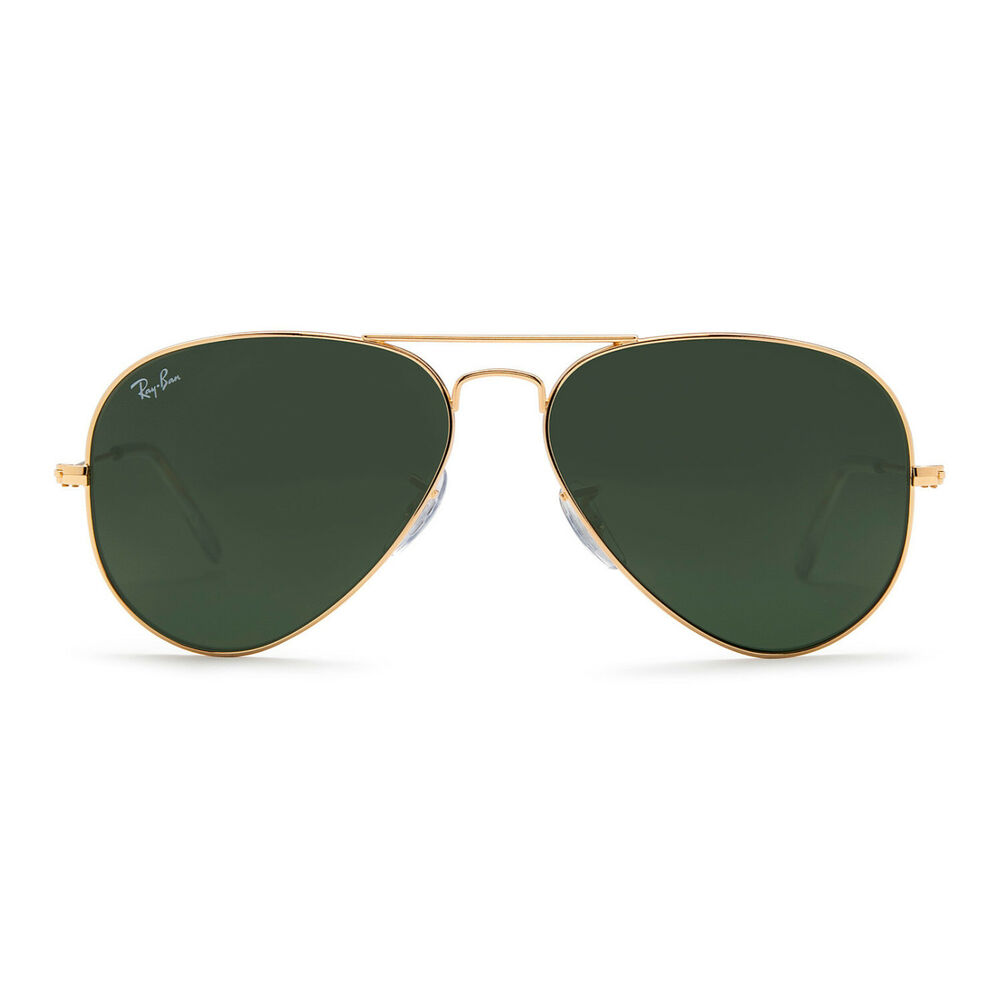 4c92733d5fcaa Details about Ray-Ban Aviator Classic Sunglasses 58mm (Gold Frame   Green  Classic G-15 Lens)