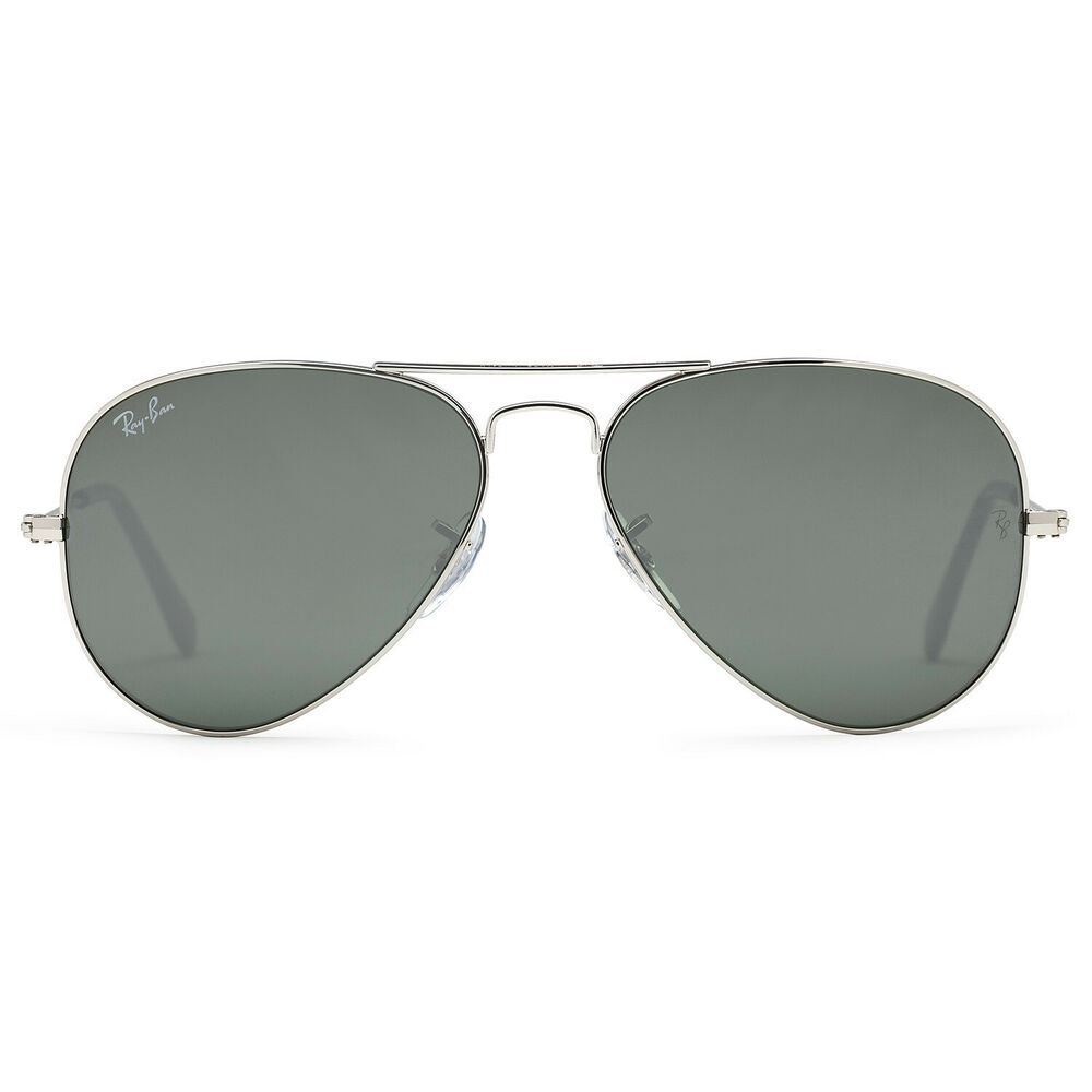 d4430d28513 Details about Ray Ban RB3025 Large Aviator Sunglasses Silver (Crystal Gray  Mirror Lens) - 55mm