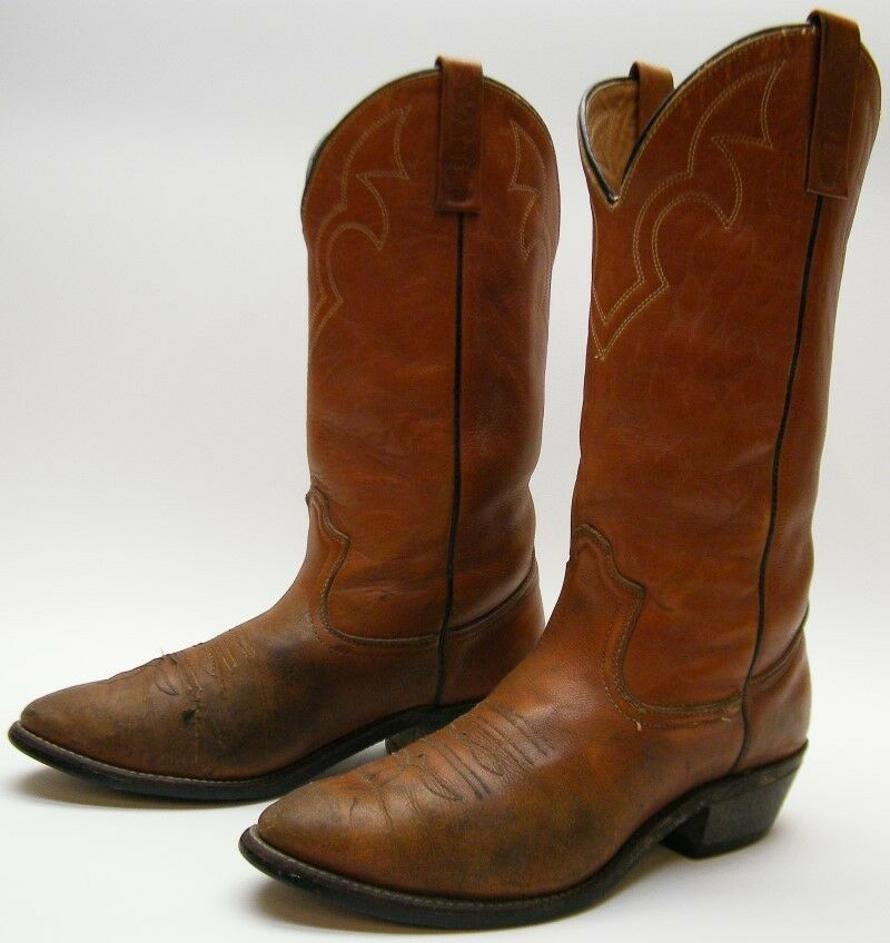 a21f540cf4e VTG RED WING PECOS RANCH WORN BRN LEATHER COWBOY WESTERN WORK BOOTS SZ  7.5~1 2 D