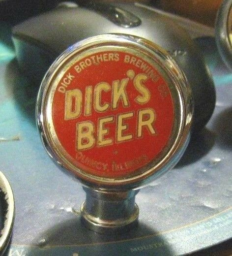 Vintage Dick S Beer Ball Tap Knob Dick Brothers Brewing Quincy Il Illinois Ebay
