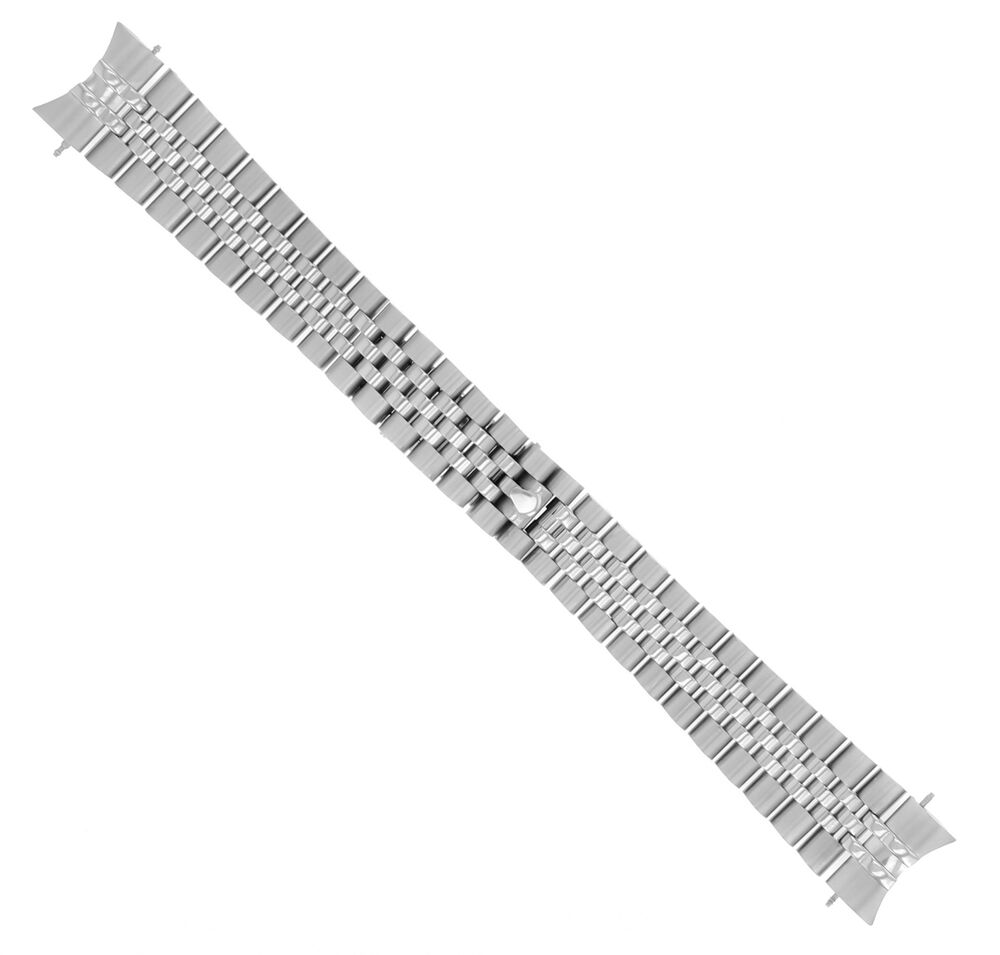 Jubilee Watch Band Solid Link For Rolex Datejust Hidden Clasp 20mm
