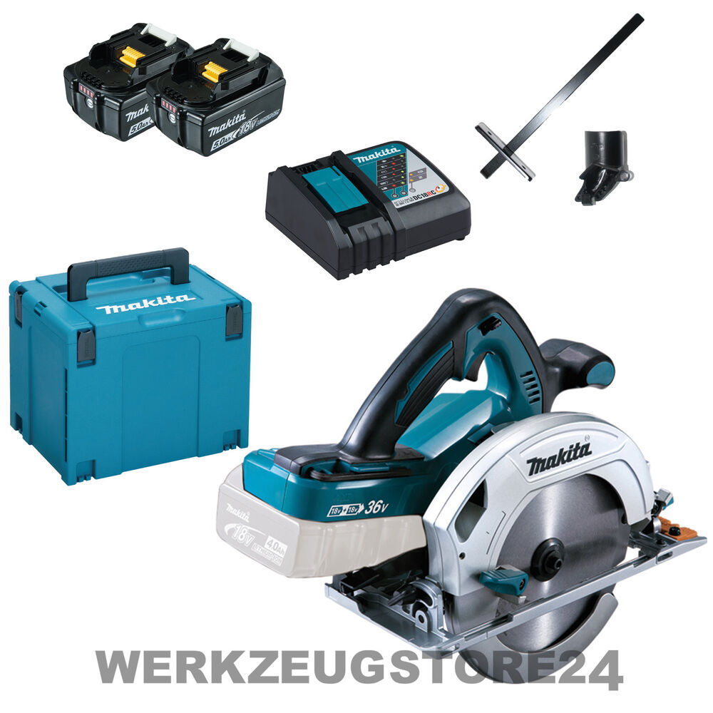 makita dhs710rtj akku handkreiss ge 2x18v 2x 5 0 ah akku im makpac dhs710 ebay. Black Bedroom Furniture Sets. Home Design Ideas