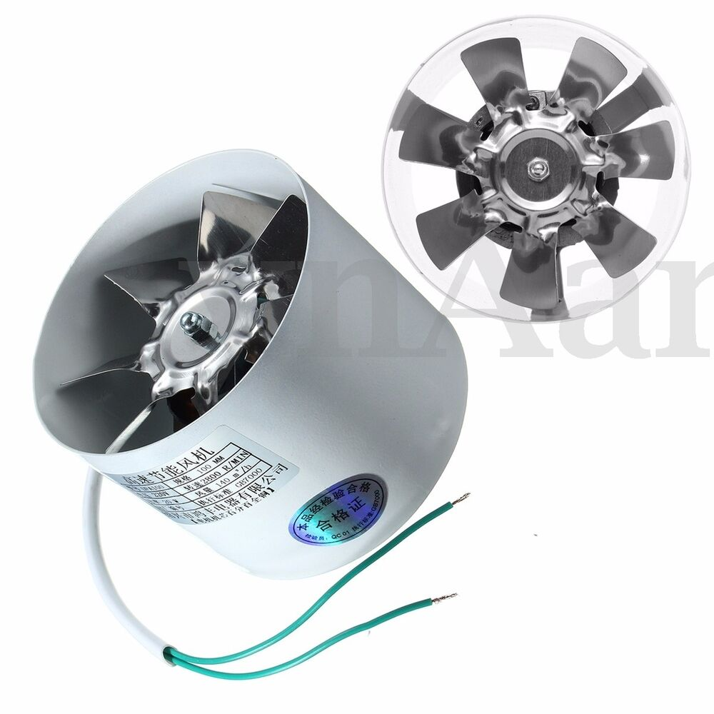 Metal 4 Inline Ducting Fan Booster Exhaust Blower Air