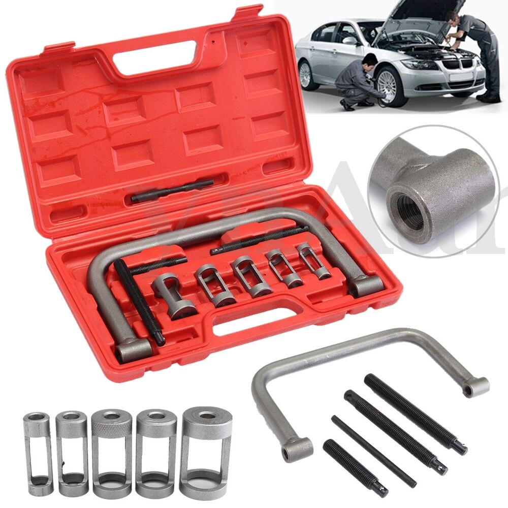 10x Valve Spring Compressor Tool Kit Set For Motorcycle