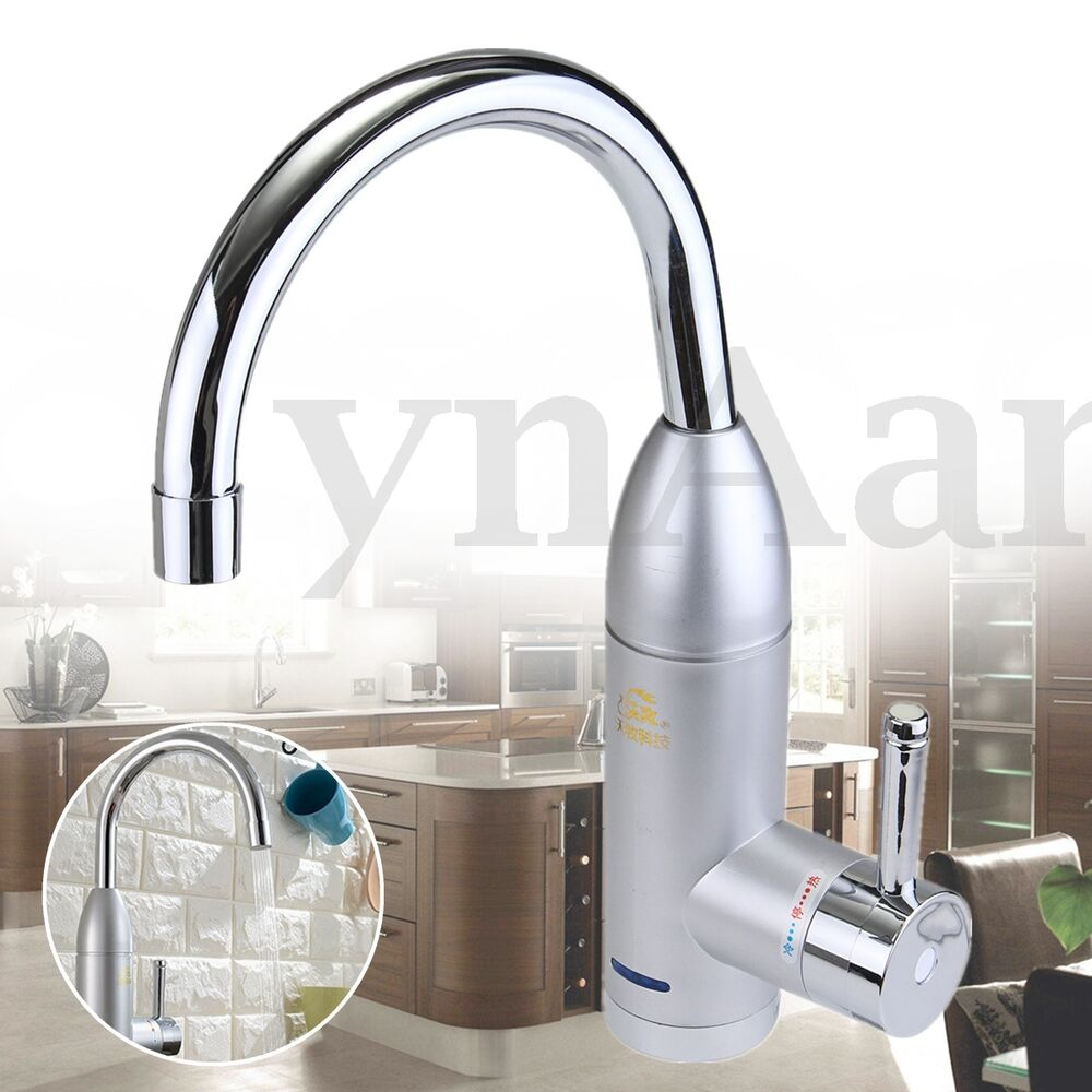 360 rotation electric instant tankless faucet tap water for 3 bathroom tankless water heater