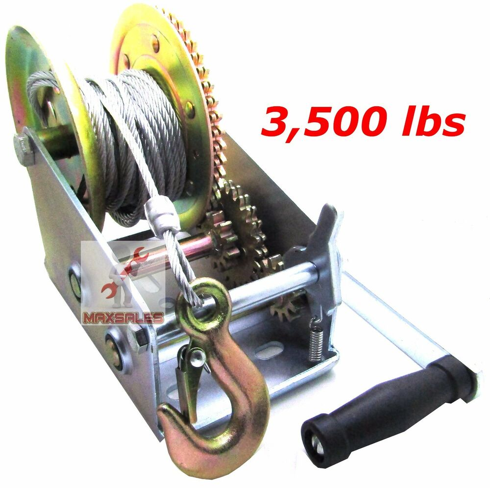 Car Hand Winch Towing Equipment
