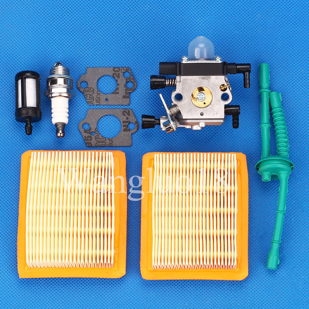 For Stihl Mm55 Mm55c Tiller Trimmer Carburetor Carb Air Fuel Filter Tune Up Kit