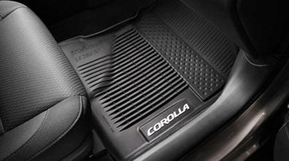 Toyota Corolla 2017 Black All Weather Rubber Floor Liner