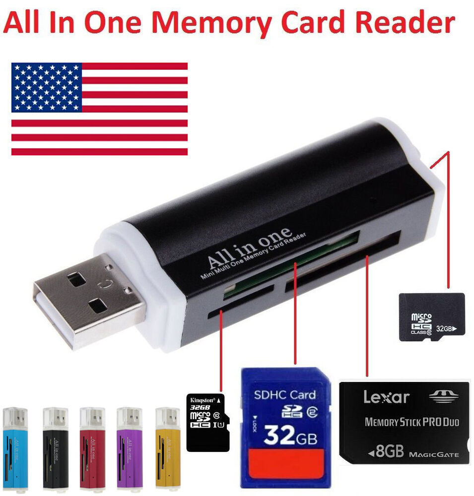 High Speed All in1 USB Memory Card Reader Adapter For ...