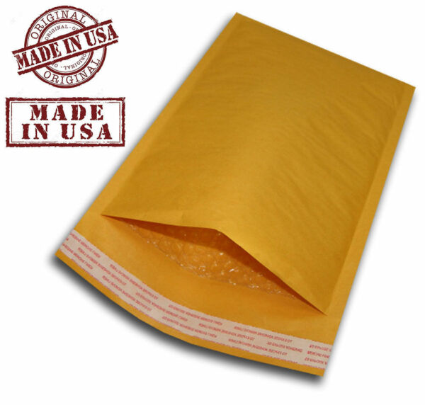 200 #2 8.5x12 KRAFT BUBBLE PADDED MAILERS SELF SEAL ENVELOPES 8.5