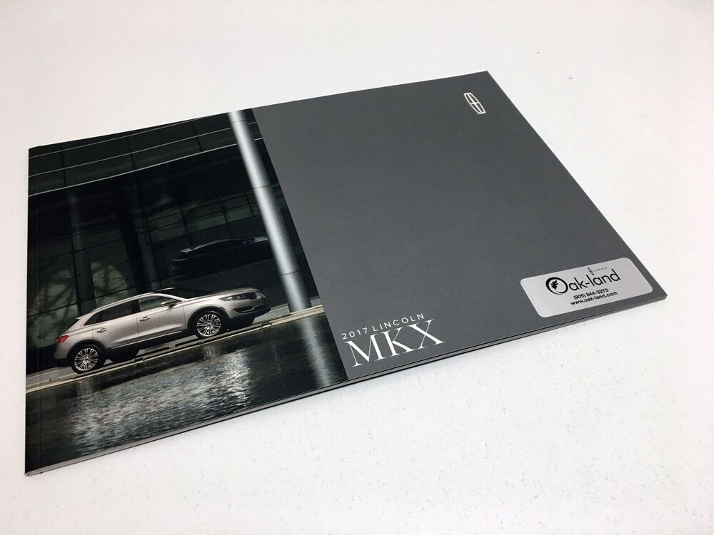 Details About 2017 Lincoln Mkx Brochure