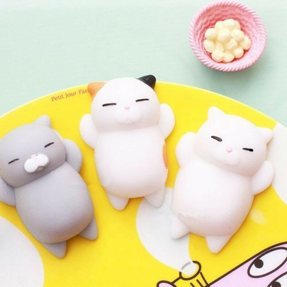 Squishy Toys Cats : Soft Lovely Cat Squishy Healing Squeeze Fun Kid Toy Gift Stress Reliever Decor C eBay