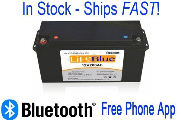 Rv Battery Voltage Monitor : Ah v lithium ion with bluetooth battery monitor rv li