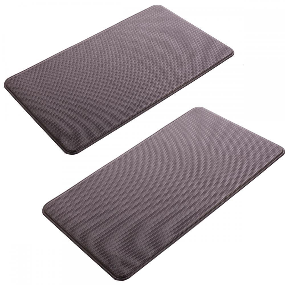 2 Pcs Kitchen Mat Standing Desk Mat Rug Anti Fatigue Floor