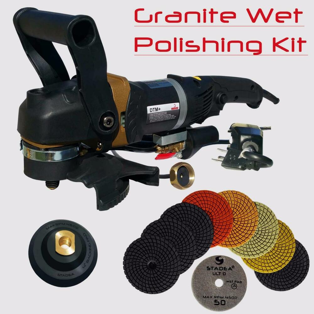 Stadea 5 Quot Wet Stone Grinder Polisher With Granite Wet Polisher Polishing Pad Kit Ebay