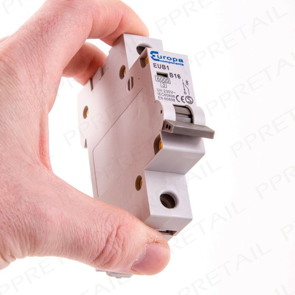 A amp single pole mini circuit breaker type b trip