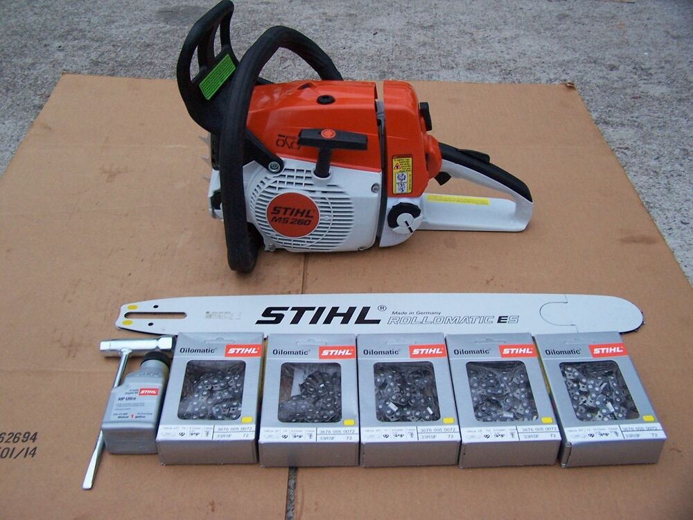 Stihl ms pro chainsaw quot bar five chains ebay