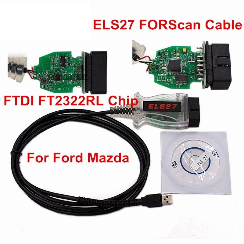 diagnoseger t els27 forscan obd2 scanner f r autos ford. Black Bedroom Furniture Sets. Home Design Ideas