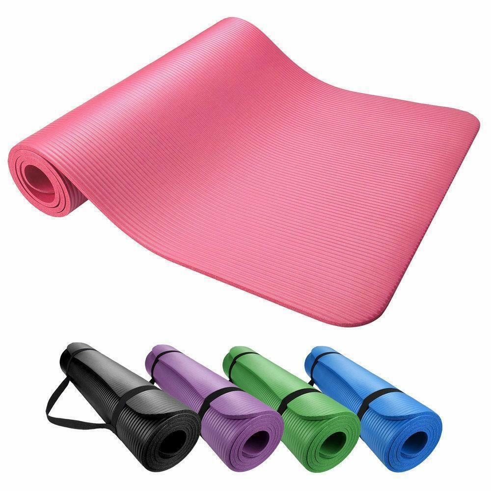 Yoga & Exercise Mat Thick Non-Slip Shock Absorbing Pad