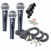 Cardioid Vocal Microphone Pack - Dynamic Handheld XLR Mic Cable 20FT Clip Studio
