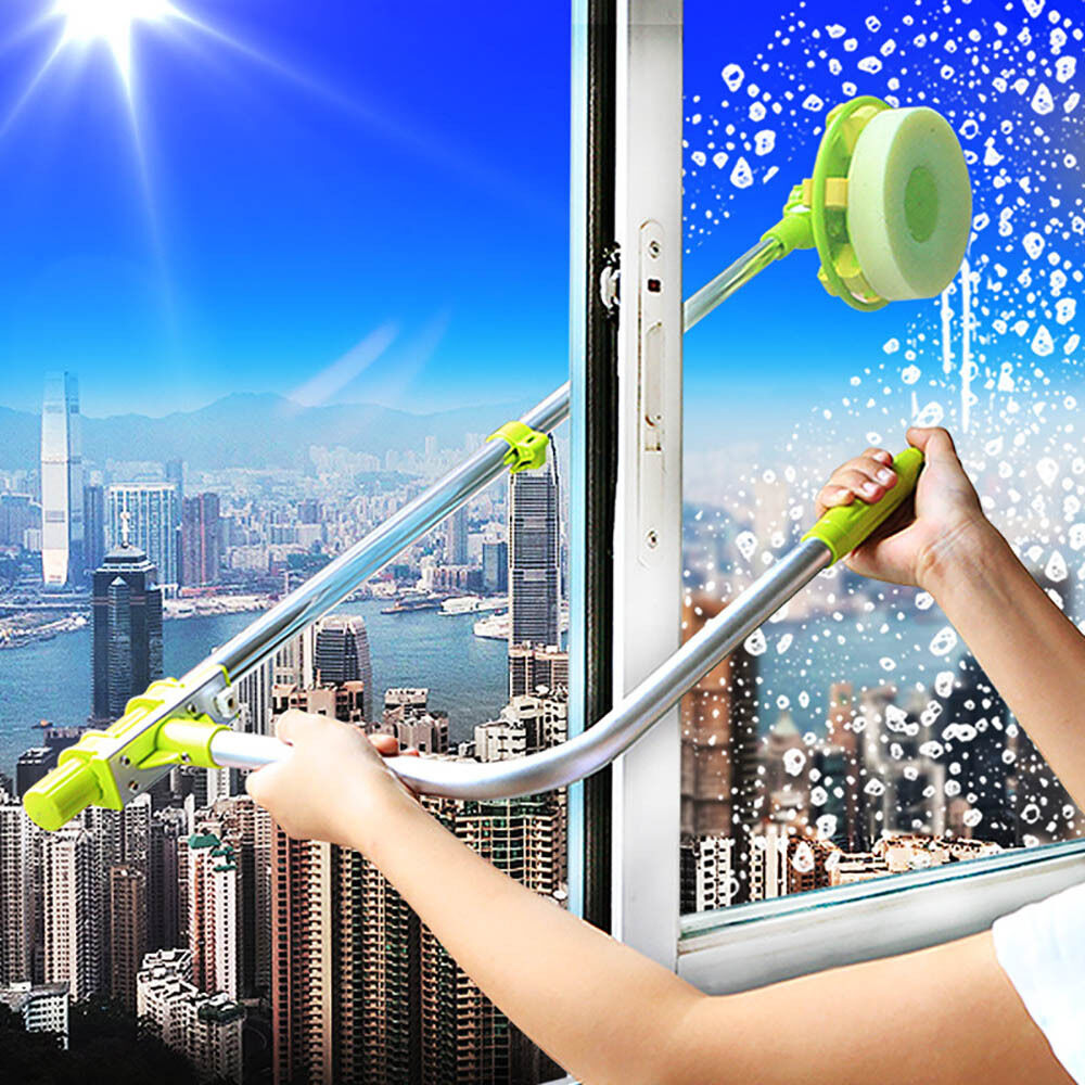 Telescopic High Rise Window Cleaning Glass Cleaner Brush