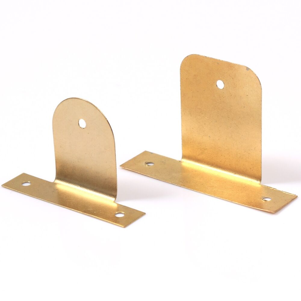 Malleable picture frame hanging plates small large brass for Mirror brackets